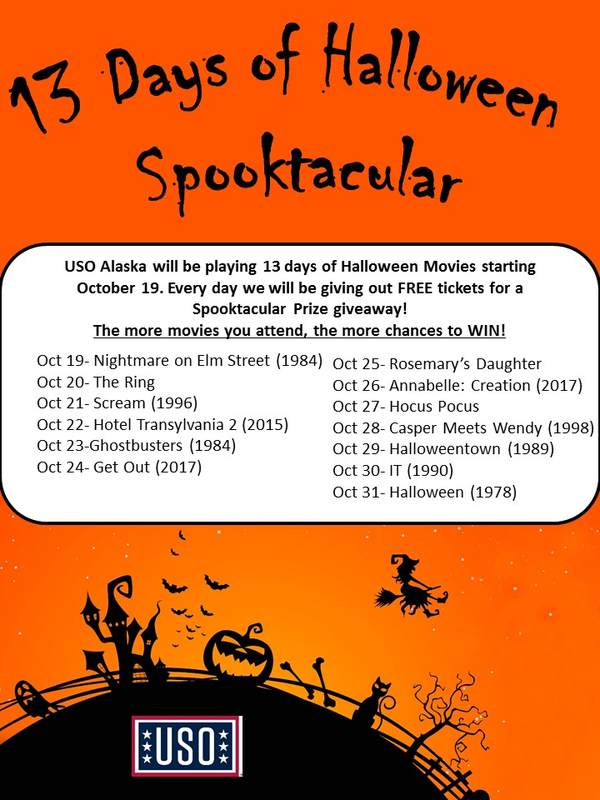 JBER: 13 Nights of Halloween Movie Spooktacular • USO Alaska
